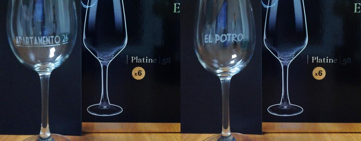 Grabado en vasos y copas de cristal